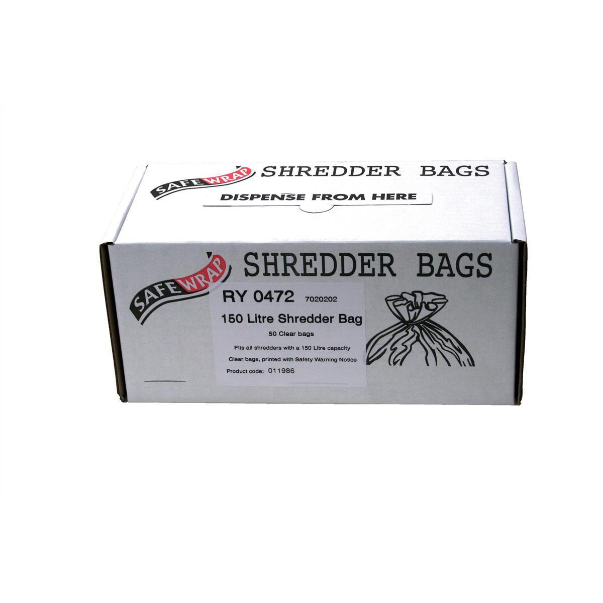Image for Robinson Young Safewrap Shredder Bags 150 Litre Ref RY0472 [Pack 50]