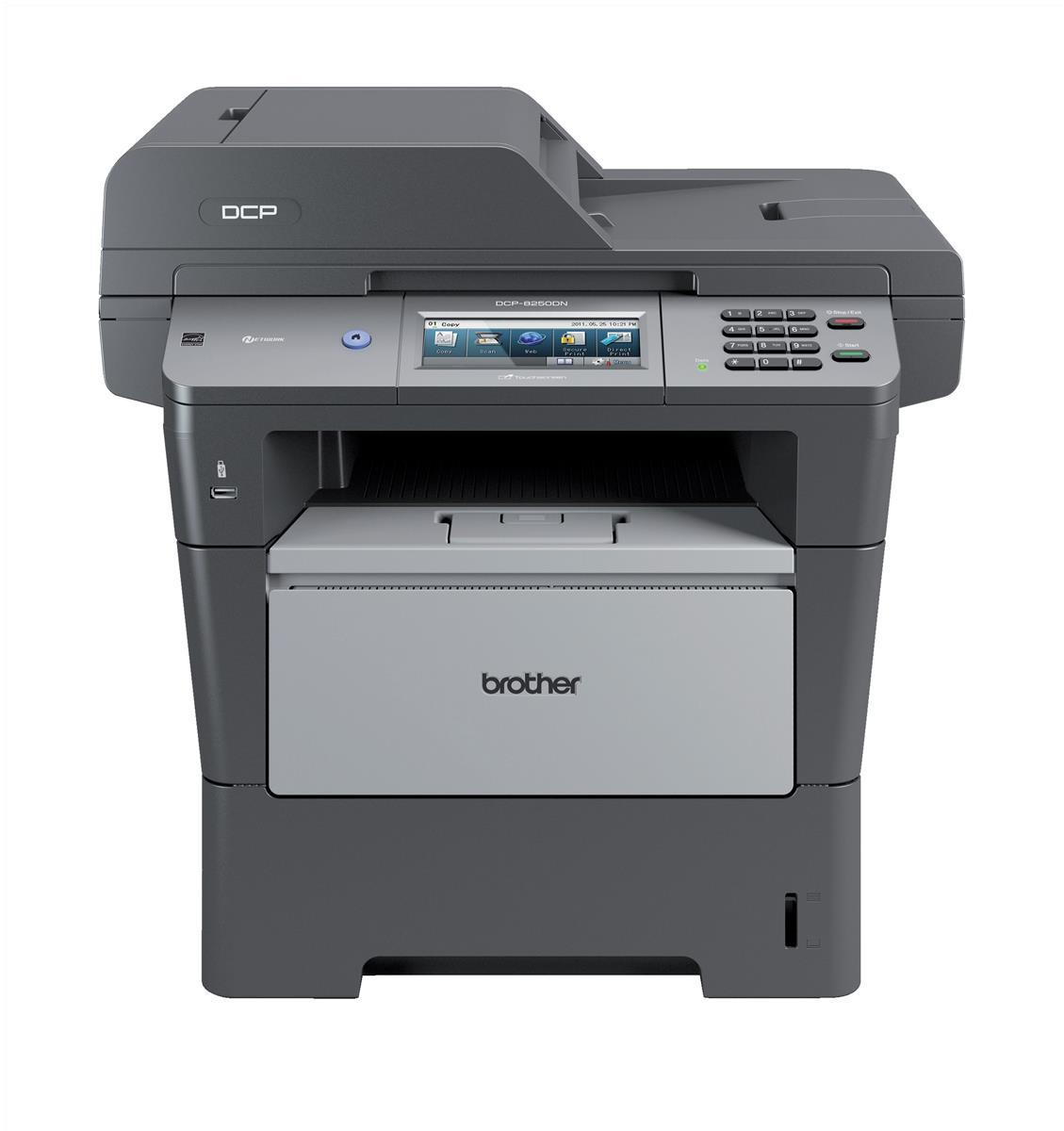 Brother DCP-8250DN High-Speed Mono Laser All-in-One Printer Duplex Network Grey (Pack of 1) DCP8250DNZU1