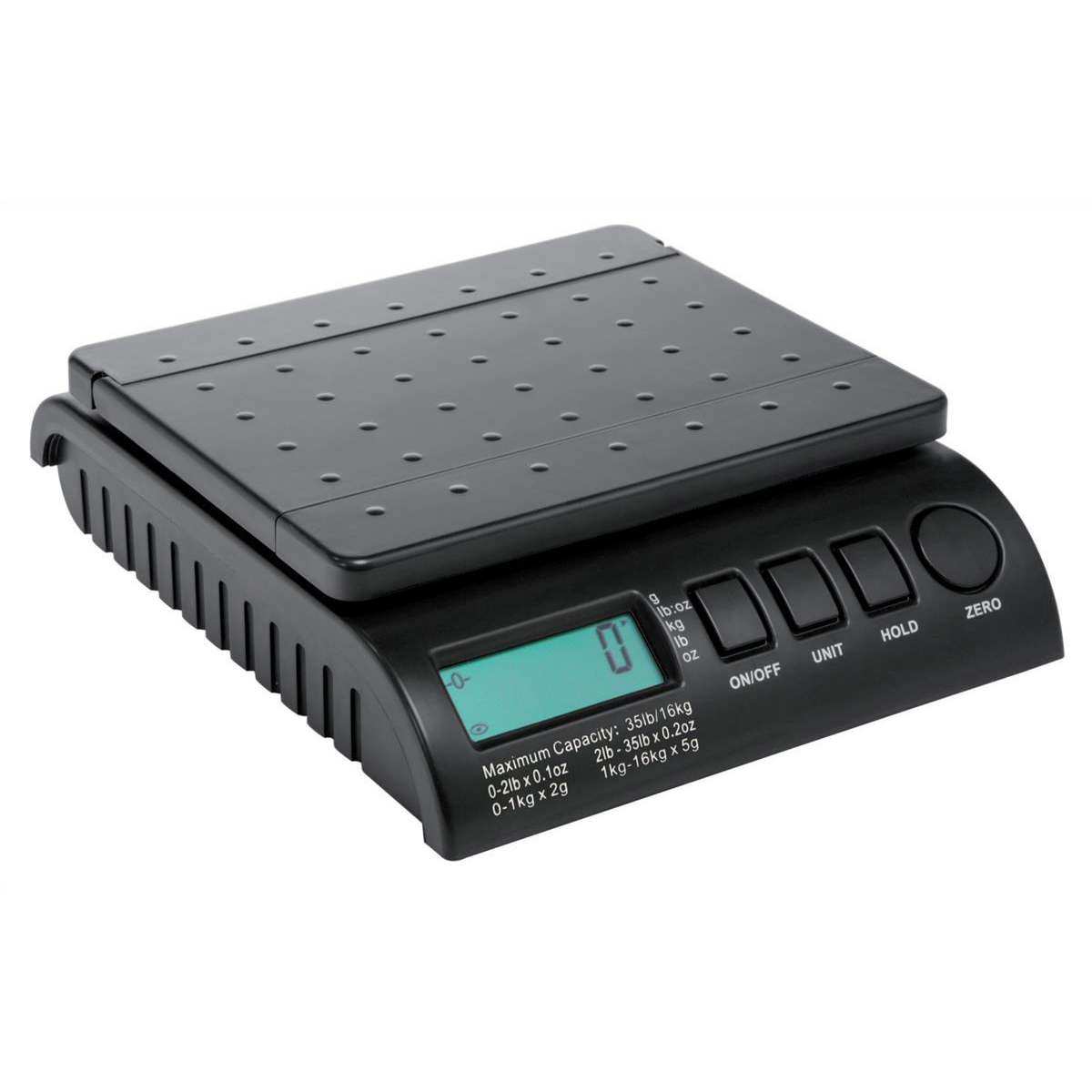 *Postship Multi Purpose Electronic Weighing Scales 2g Increments Capacity16kg Black Ref PS160B (MH)  (SNOY)