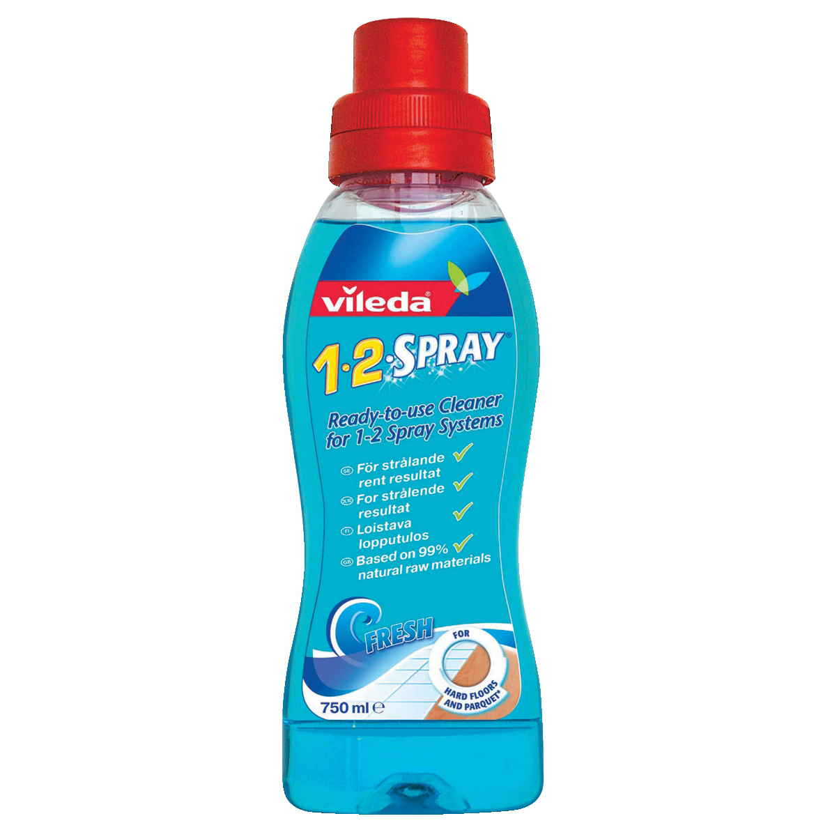 Vileda Cleaning Solution Refill for 1-2 Spray and Clean Mop System Ref N07555