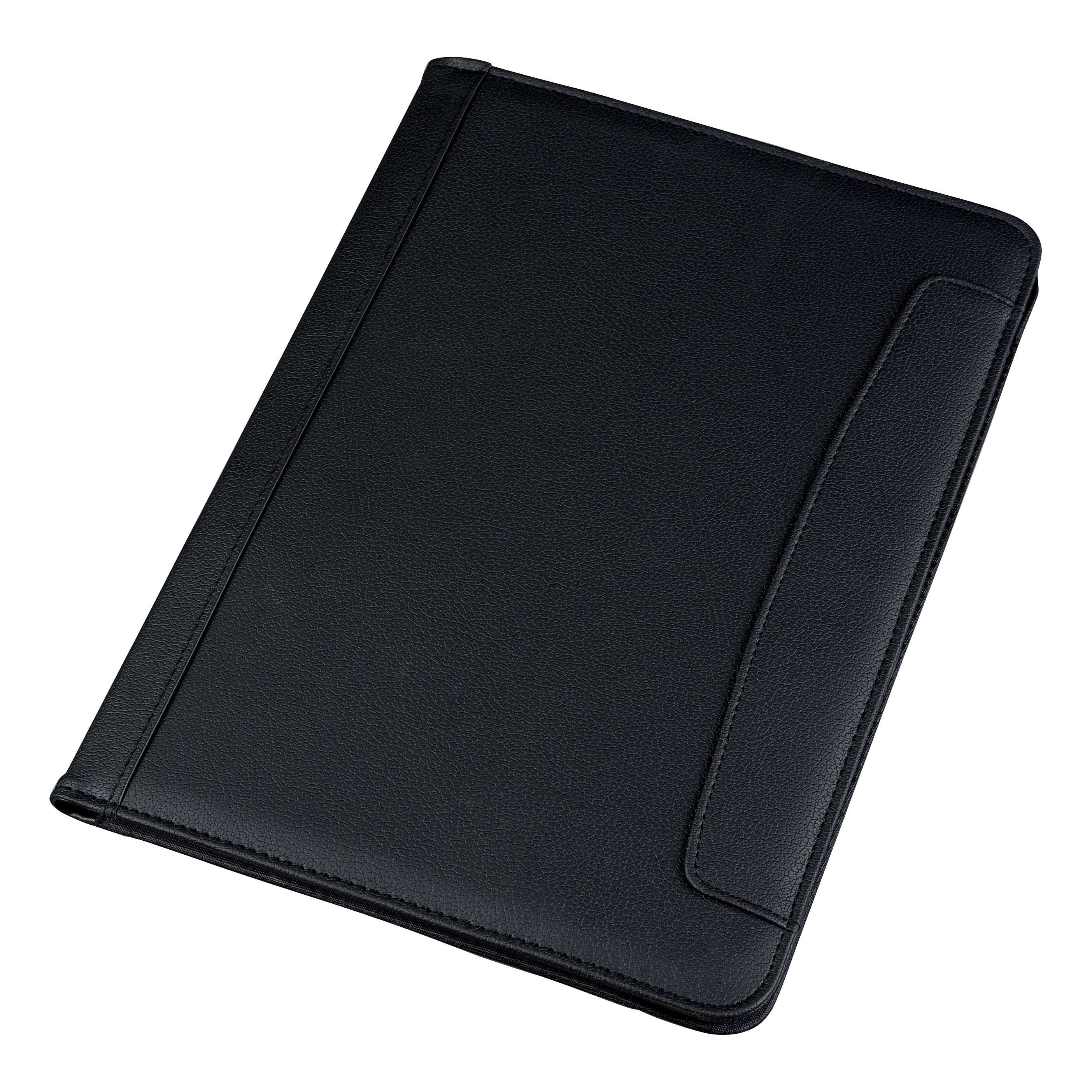 5 Star Conference Folder Folio Leather Look Writing Case A4 Black