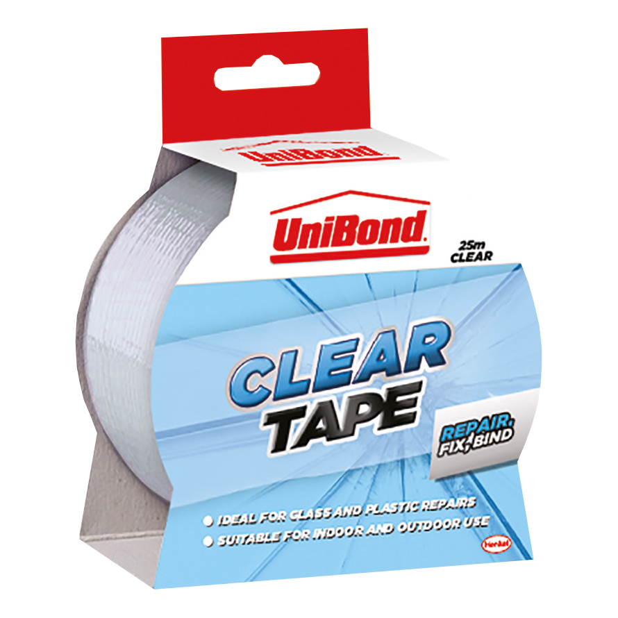 UniBond Transparent Repair Tape Waterproof 50mm x 25m Ref 1668006