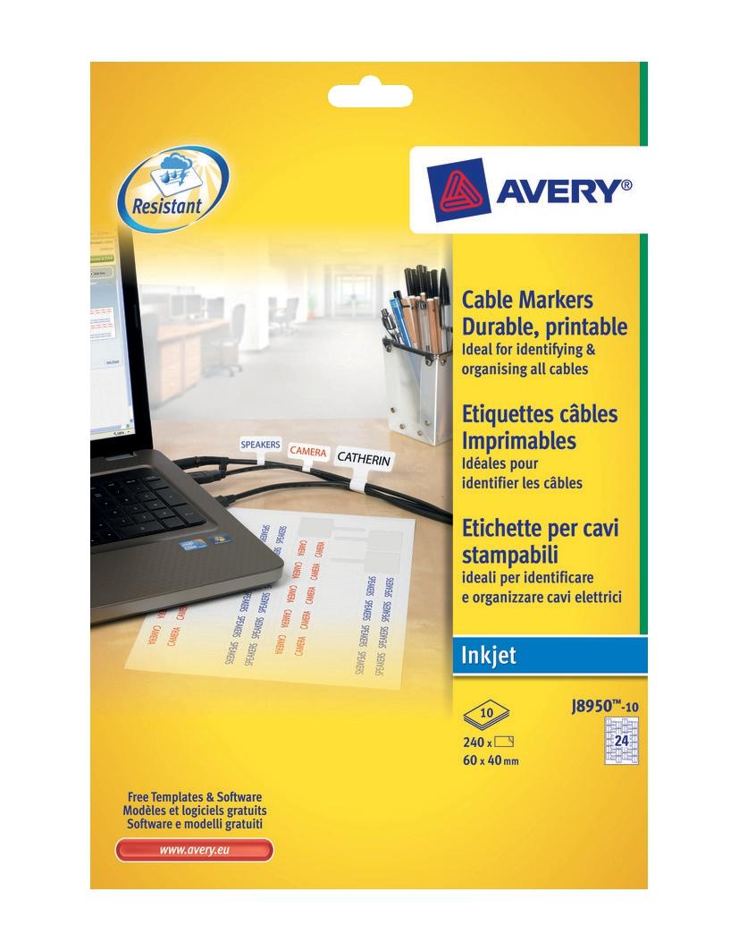 Avy CableMkrs 10shts pk I/jet-J8950-10