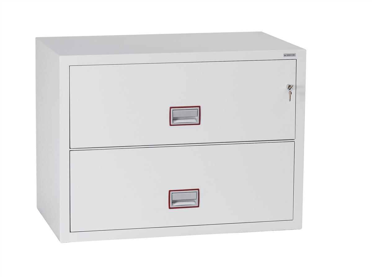 Phoenix World Class Fire Resistant 2 Drawer Lateral Filing Cabinet Code FS2412K