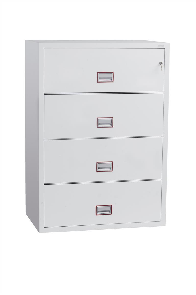 Phoenix World Class Fire Resistant 4 Drawer Lateral Filing Cabinet Code FS2414K