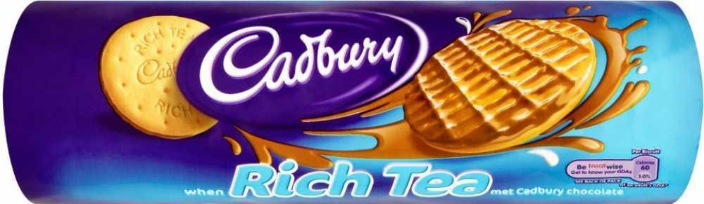 Cadbury Milk Chocolate Rich Tea Biscuits 300g Pack 12 Code 11333