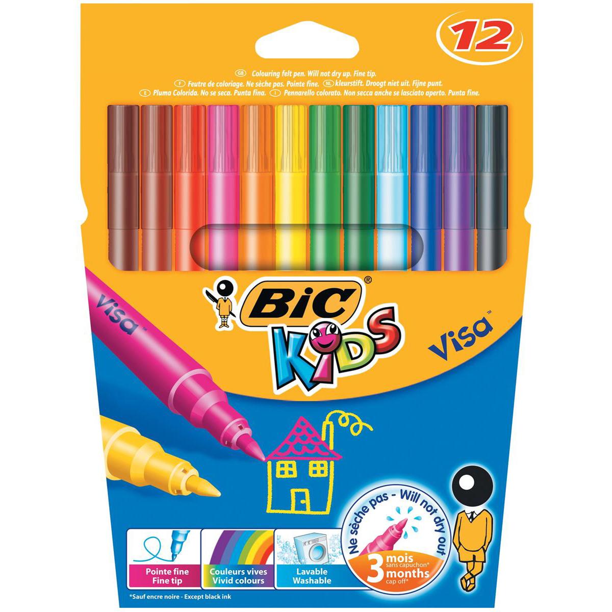 BIC Kids Visa Felt Pens 888695