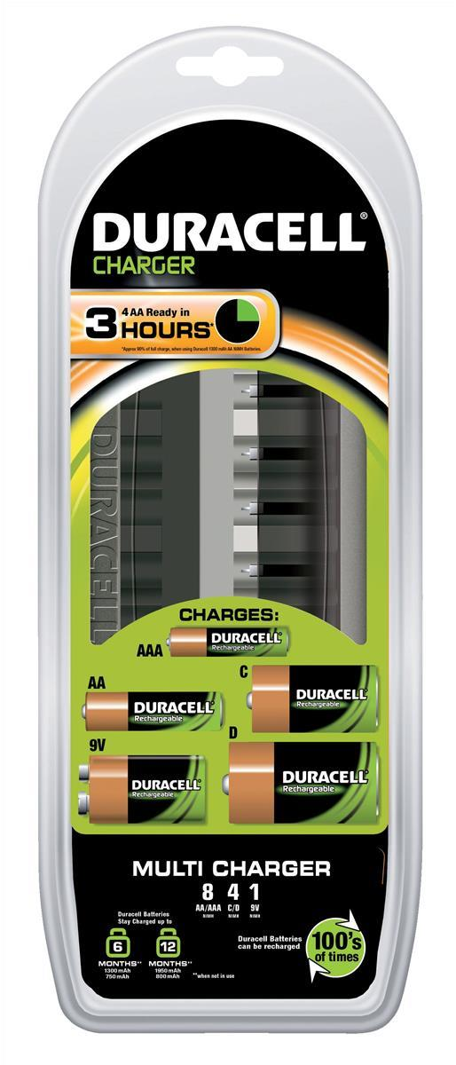 Image for Duracell Multi Battery Charger CEF22 3hrs Ref 81362493
