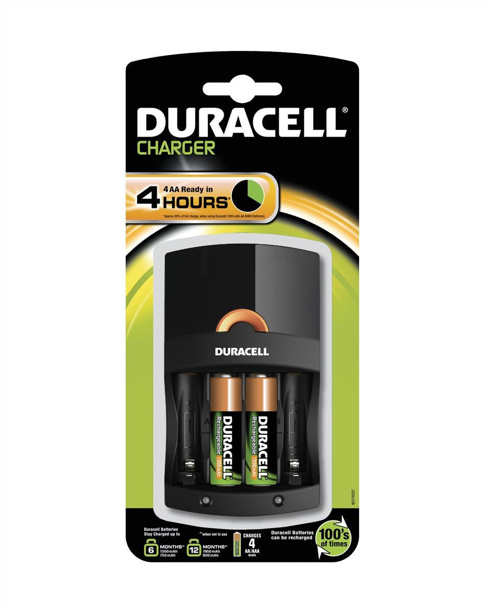 Image for Duracell Black 4 Hour Battery Charger (Pack of 1) 81528873