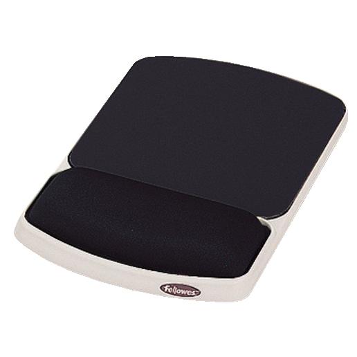 Fellowes Premium Gel Mousepad Wrist Support Graphite Ref 93741