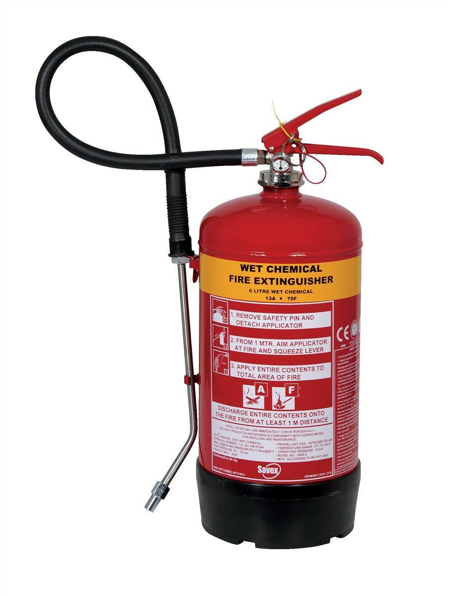 IVG Fire Extinguisher Wet Chemical Foam 6L Code IVGS6.0LTWC