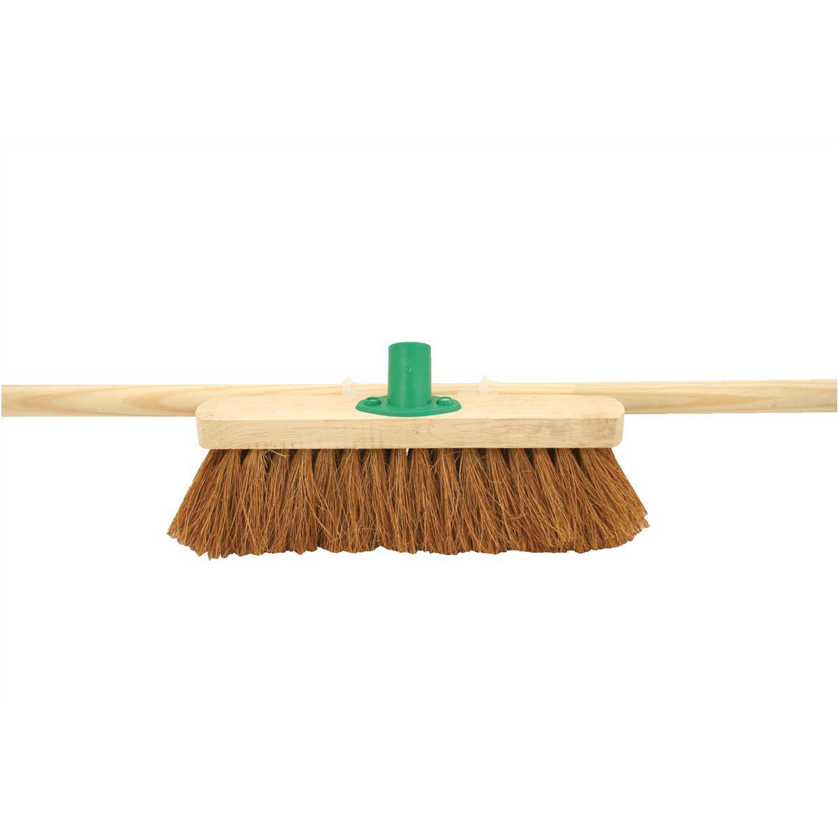 Bentley 12in Soft Coco Broom with Handle & Bracket Ref SPC/F01BKT/C4