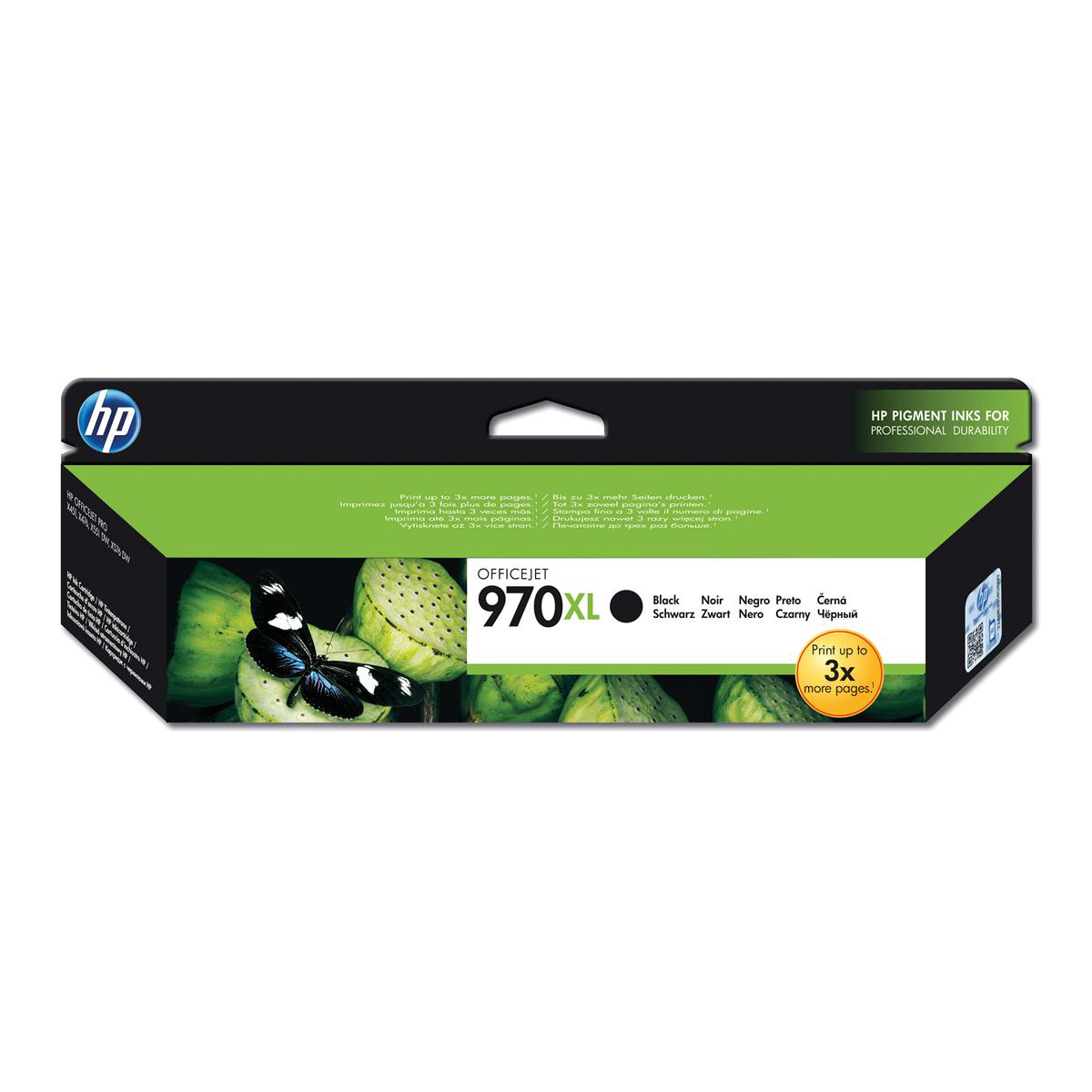 Hewlett Packard [HP] No.970XL Inkjet Cartridge High Yield Page Life 9200pp 173.5ml Black Ref CN625AE