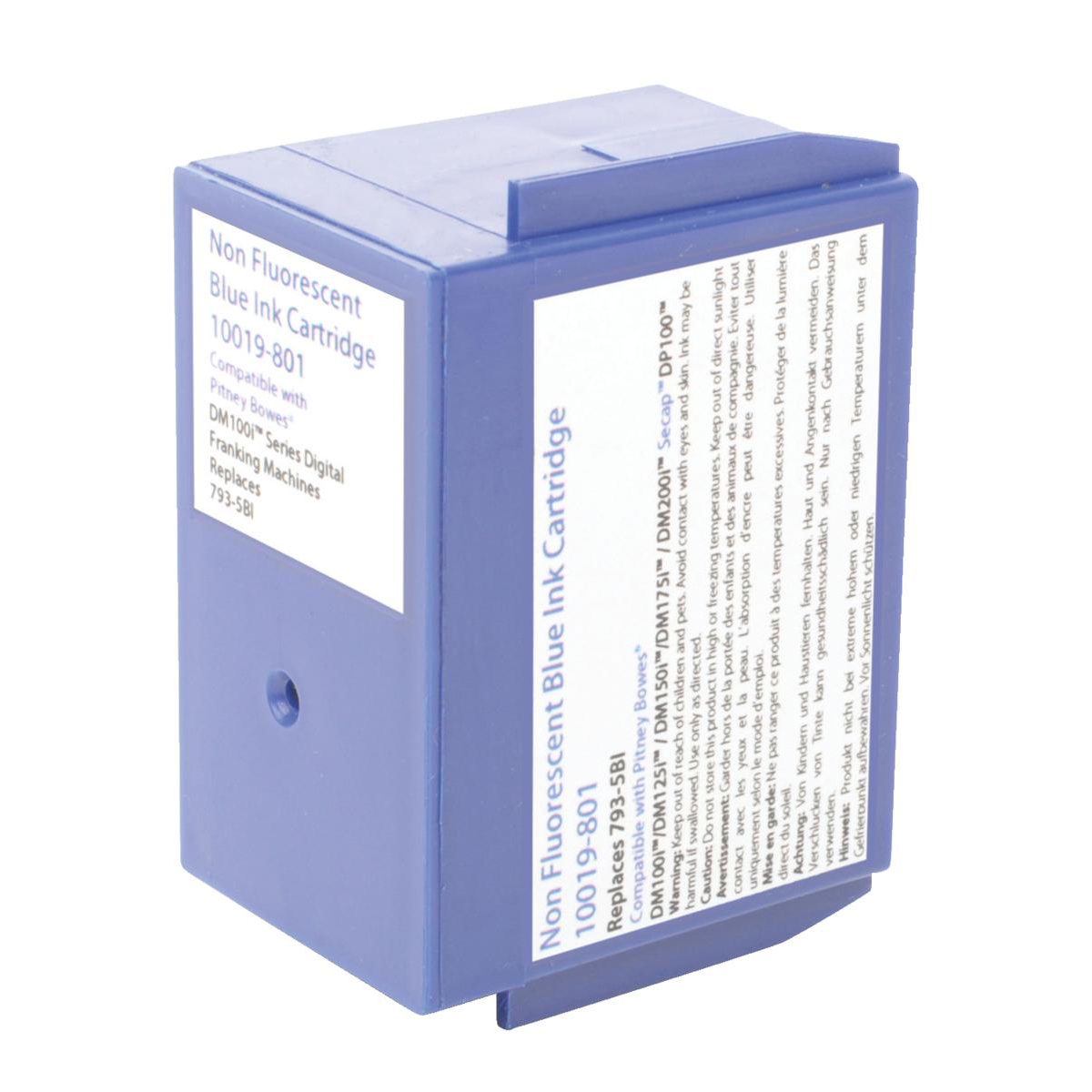 Image for Totalpost Franking Inkjet Cartridge Blue [Pitney Bowes DM100i Series Equivalent] Ref 10019-801