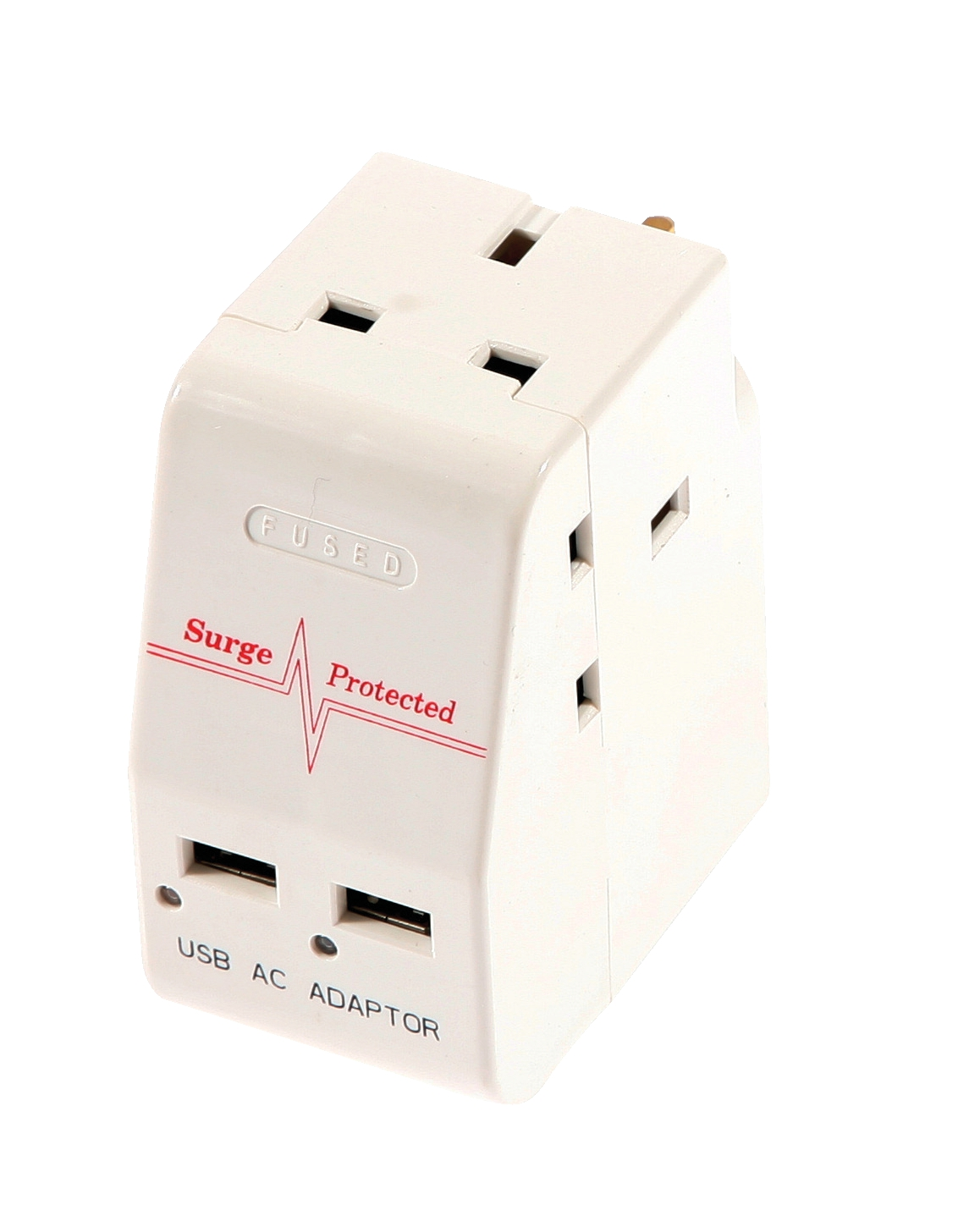 Image for 3 Way Adaptor with 2 USB Ports