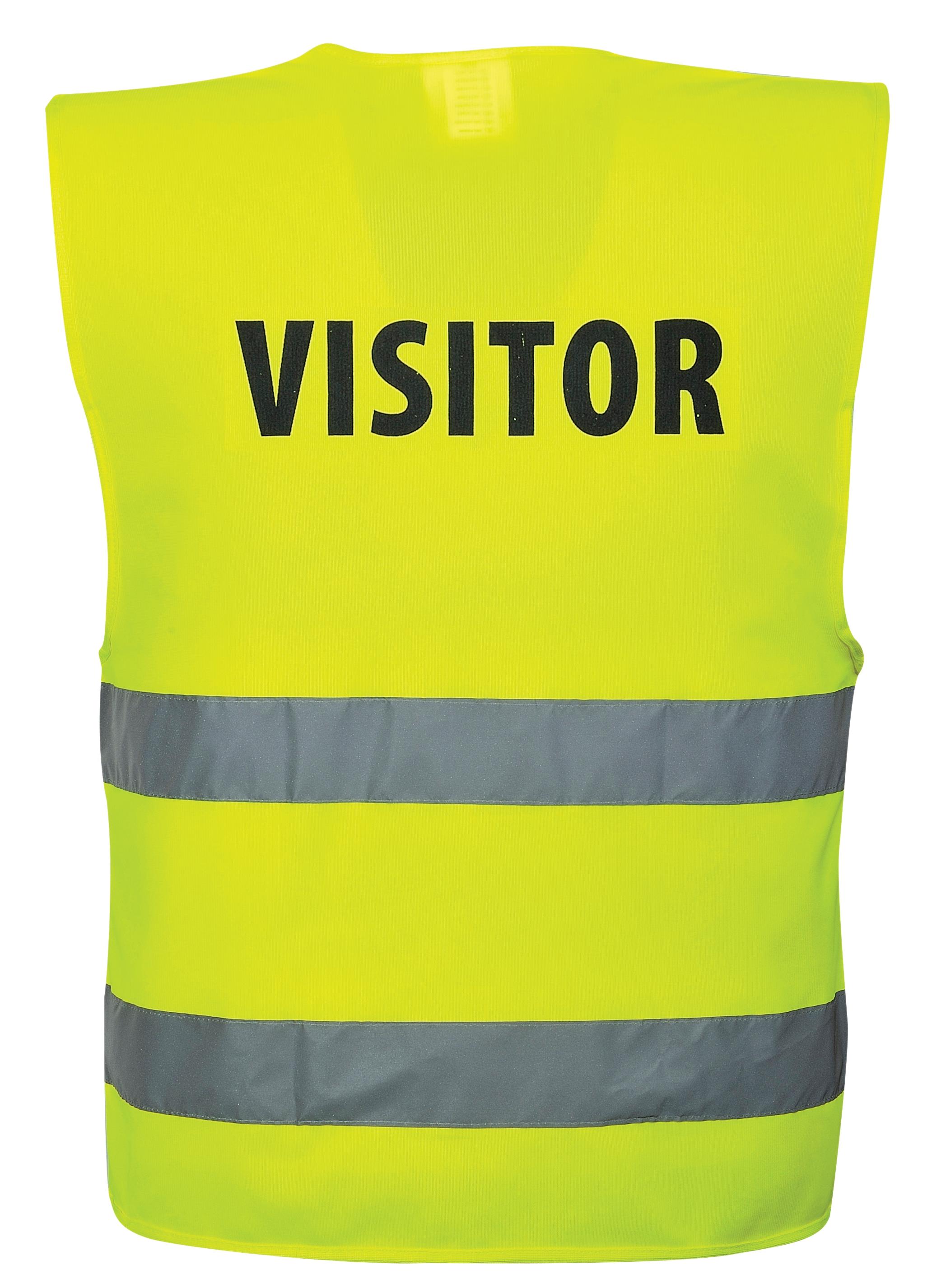 Hi Vis Visitors Vest Sm lMed