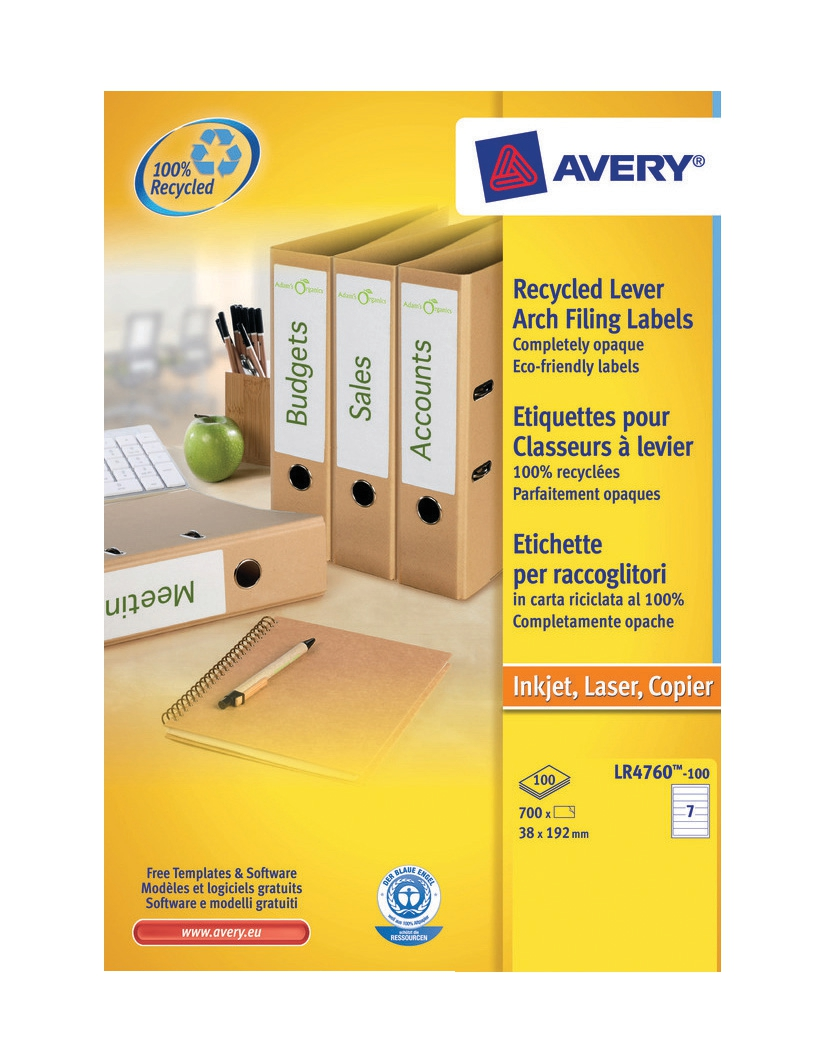 Avery Recycled Filling Label LR4760-100