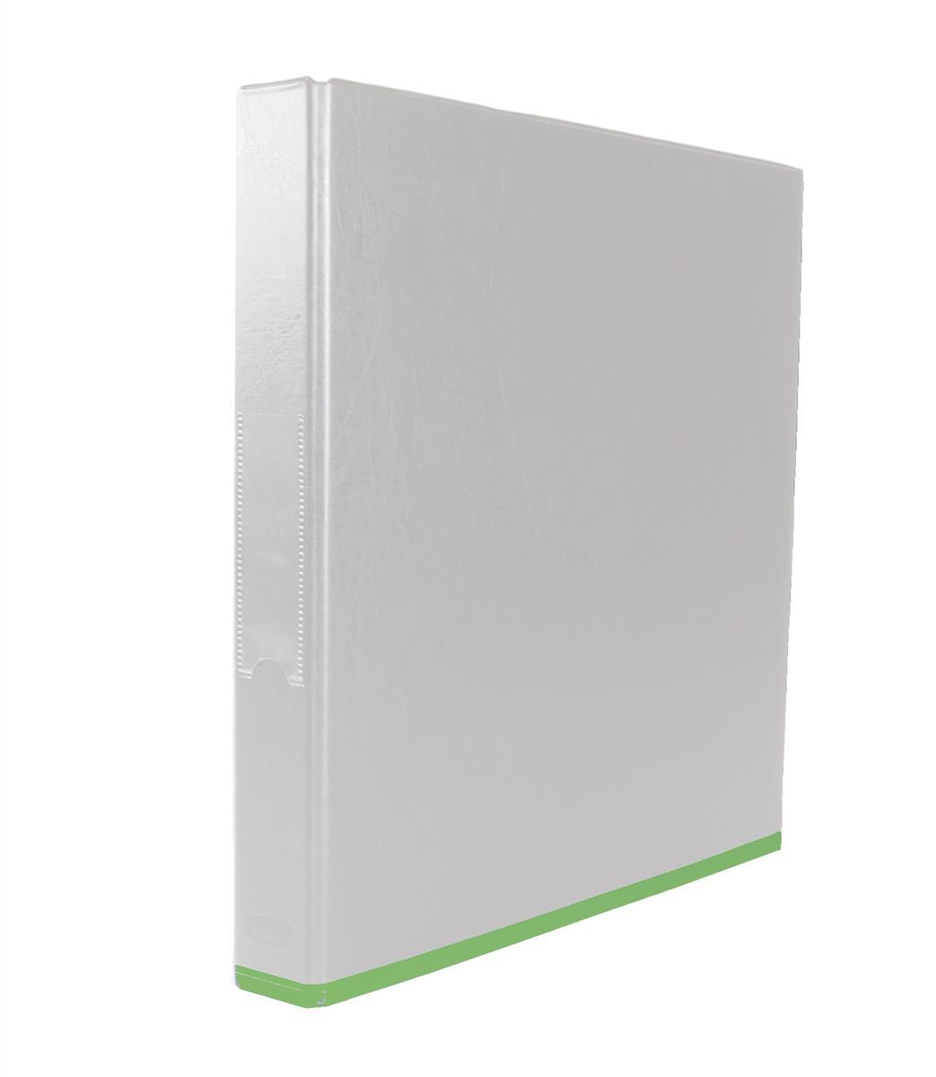 Elba Mycolour Ring Binder 2 O-Rings A4 White and Lime Pack 10