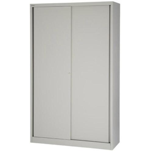 Bisley Sliding Door Cupboard inc 4 Shelves 1200x430x1980mm Grey Ref SD412/19/4S-av4 Ref SD412/19/4S-av4