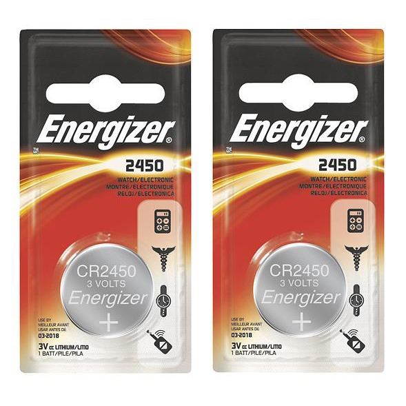Energizer CR2450 Battery Lithium Ref 638179 [Pack 2]