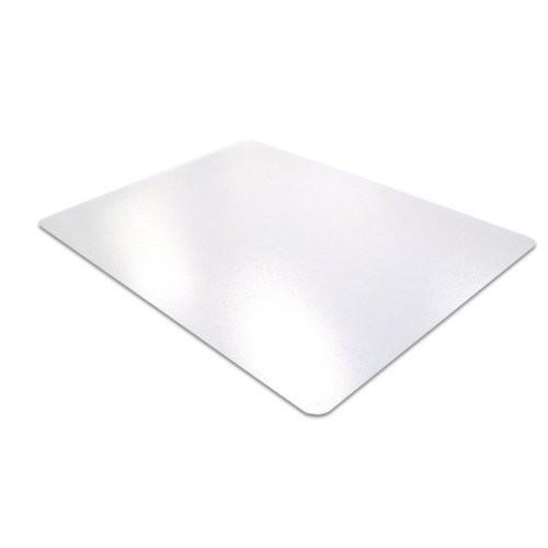 Cleartex Ultimat Chair Mat Rectangular Anti-slip for Polished Floors 1200x1340mm Clear Ref FC1213420ERA