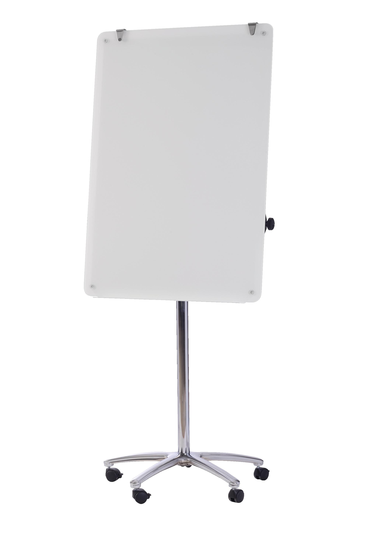 Bi-Office Magnetic Glass Flipchart Easel 700x1000mm Ref GEA4850016