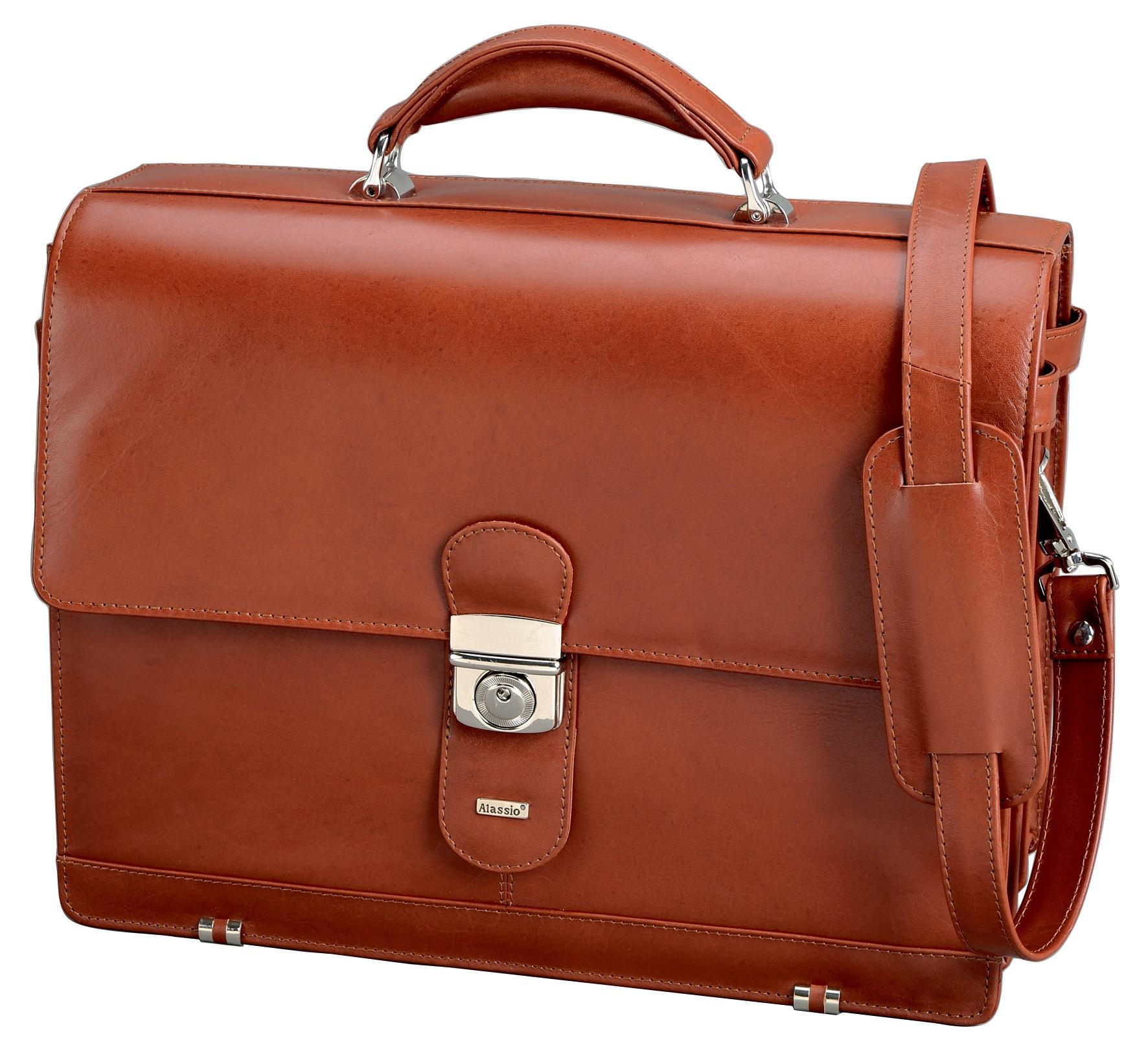 AlassioMocca Briefcase Cognac 47124
