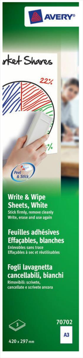 Avery Write and Wipe A3 Pack 5 Sheets