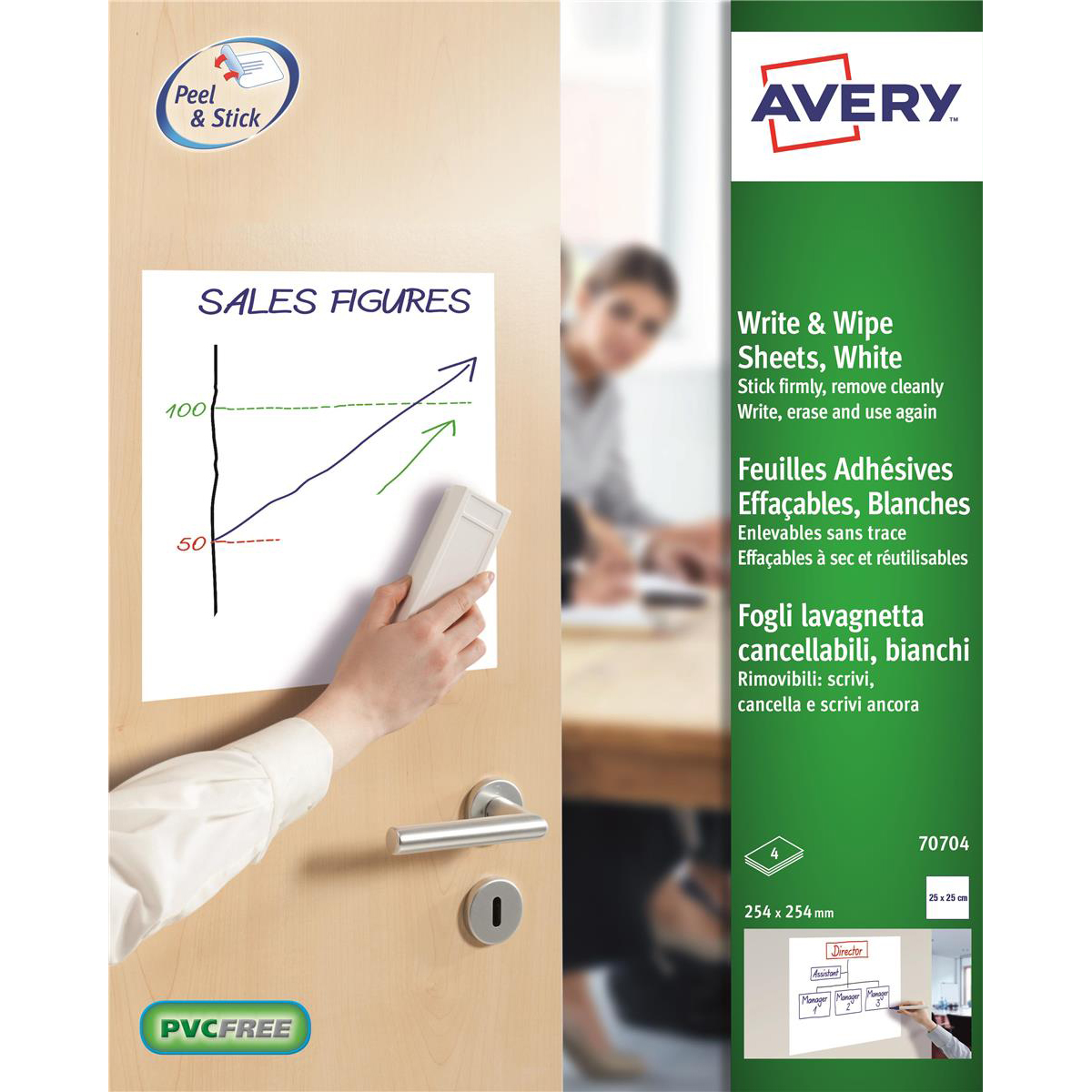 Avery Write and Wipe Square Format A4 Pack 5 Sheets