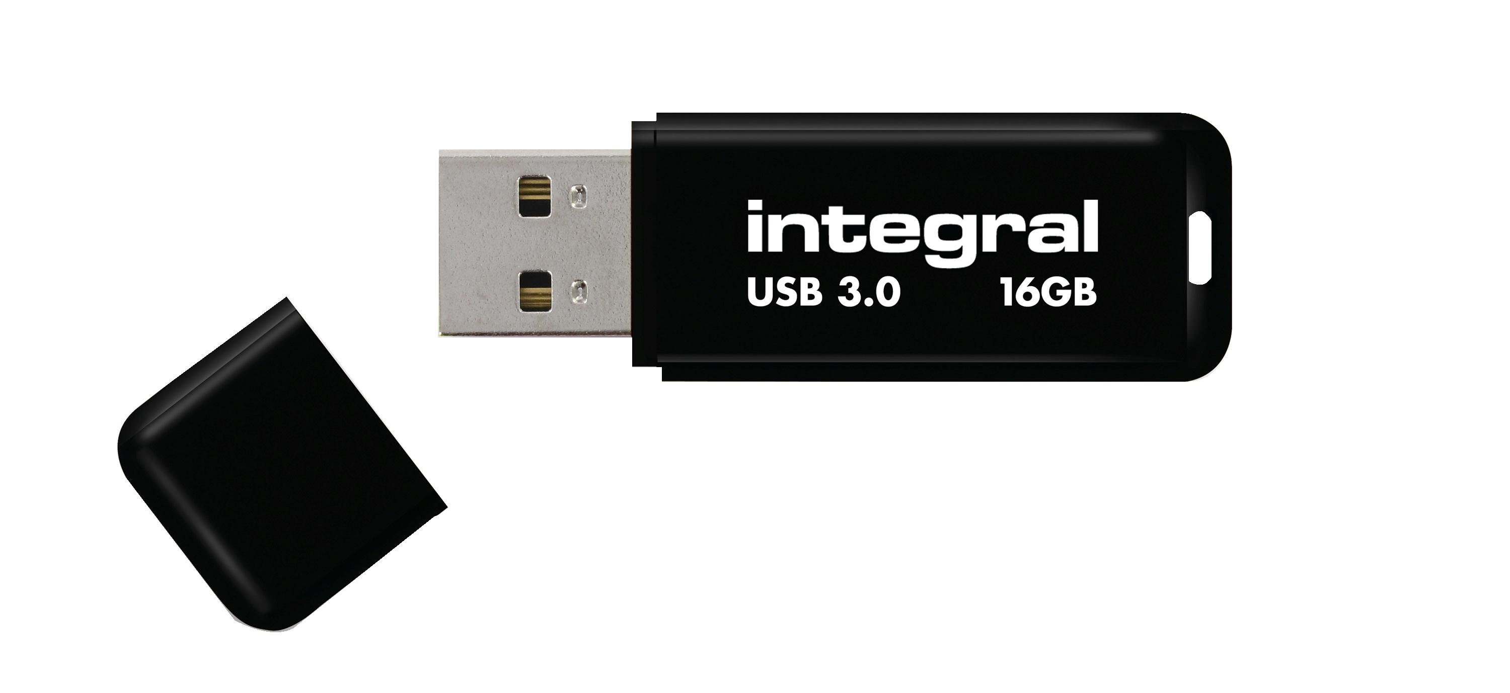 Integral Noir Flash Drive USB 3.0 16GB Ref INFD16GBNOIR3.0