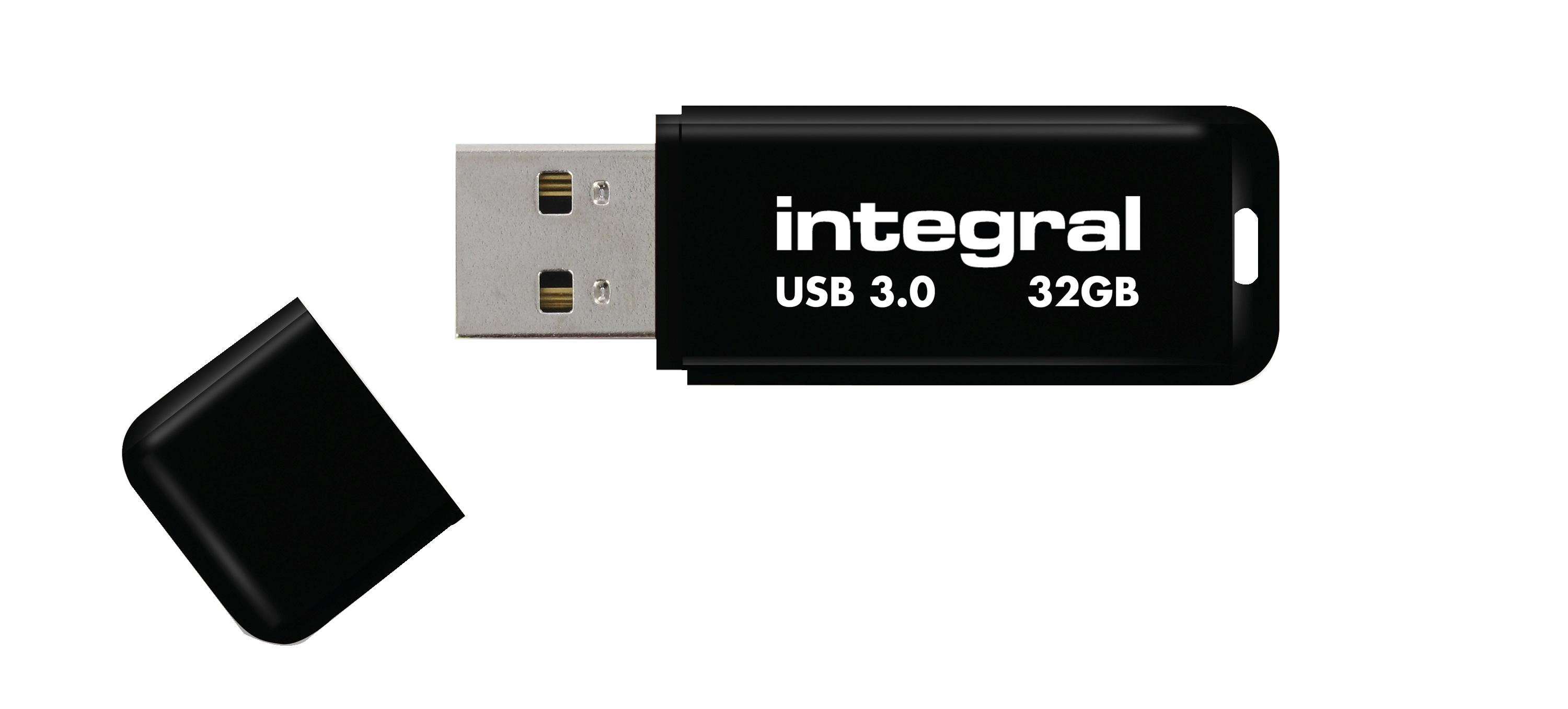 Integral Noir Flash Drive USB 3.0 32GB Ref INFD32GBNOIR3.0