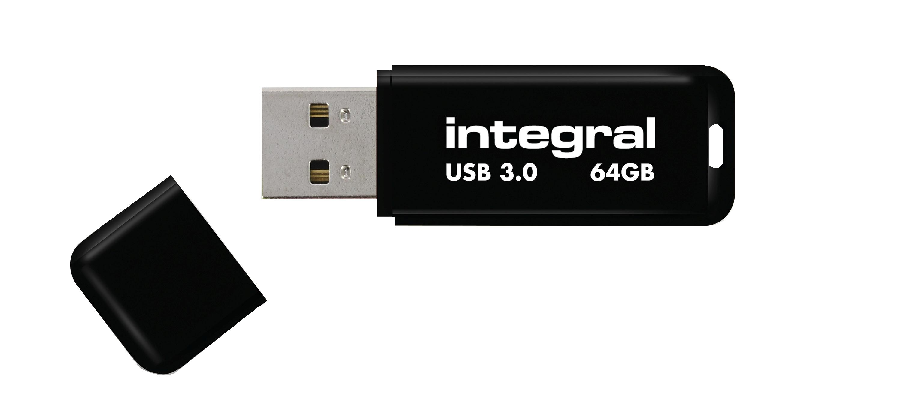 Integral Noir Flash Drive USB 3.0 64GB Ref INFD64GBNOIR3.0