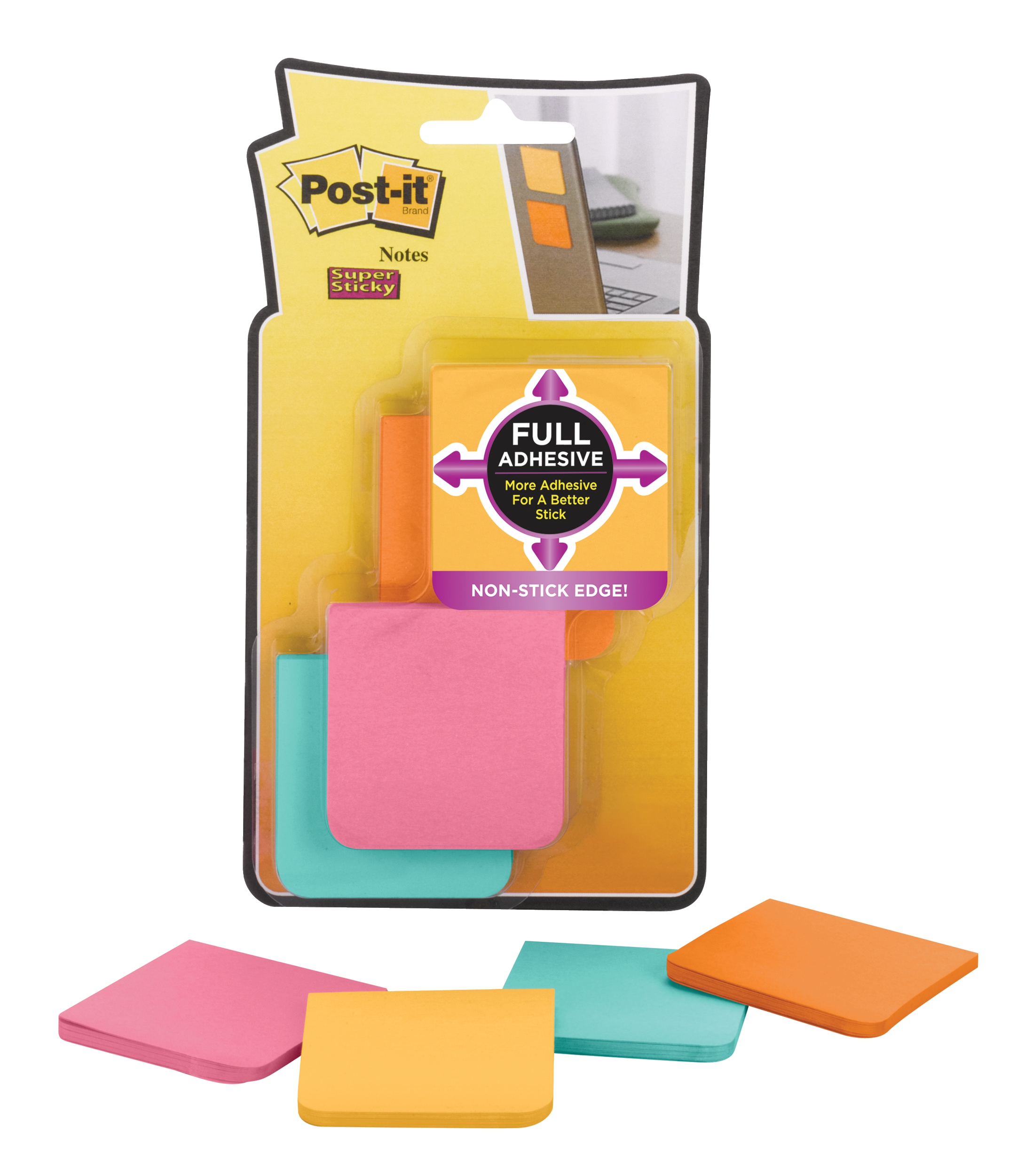 Post-it FullAdh Nts Pk8 51x51 F220-8SSFM