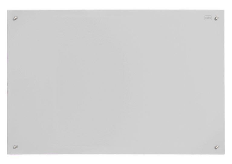 Nobo Glass Magnetic Drywipe Board 900x1200mm White