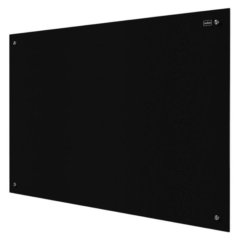 Nobo Glass Magnetic Drywipe Board 900x1200mm Black