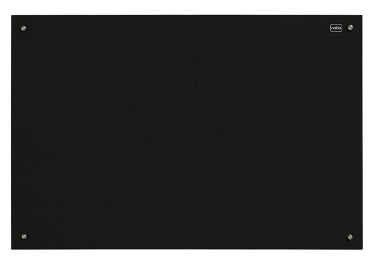 Nobo Glass Magnetic Drywipe Board 1200x1800mm Black