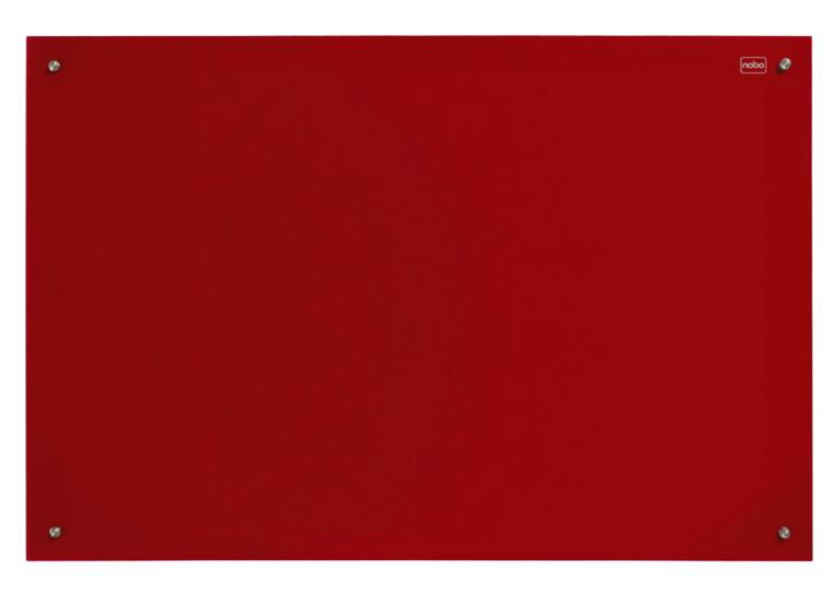 Nobo Glass Magnetic Drywipe Board 600x900mm Red