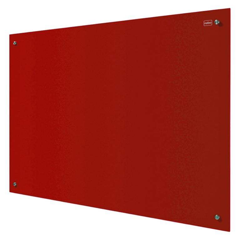 Nobo Glass Magnetic Drywipe Board 900x1200mm Red