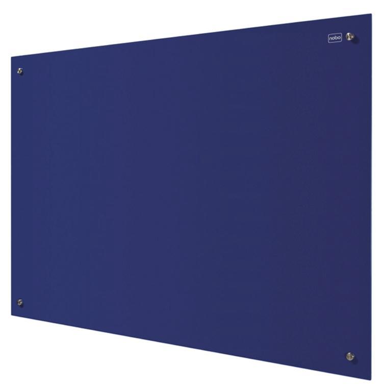 Nobo Glass Magnetic Drywipe Board 900x1200mm Blue