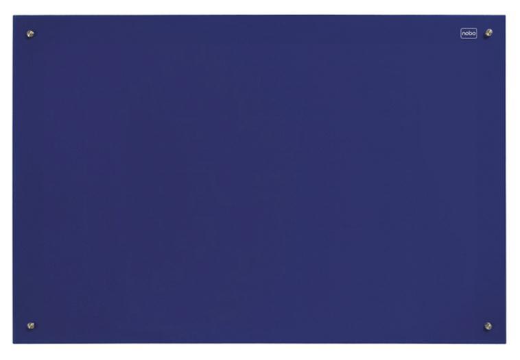 Nobo Glass Magnetic Drywipe Board 1200x1800mm Blue