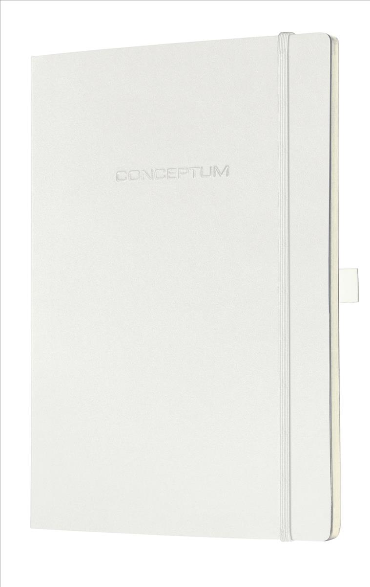 Sigel Conceptum Notebook Leather Look Soft Cover 80gsm Ruled 194pp A4 White Ref C0215