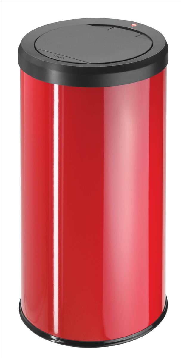 Hailo Big Bin 45 Litre Medium Steel Touch Bin Red