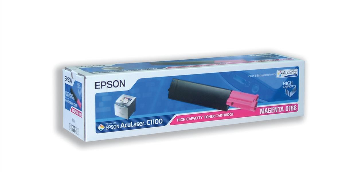 Epson S050188 Laser Toner Cartridge High Capacity Page Life 4000pp Magenta Ref C13S050188