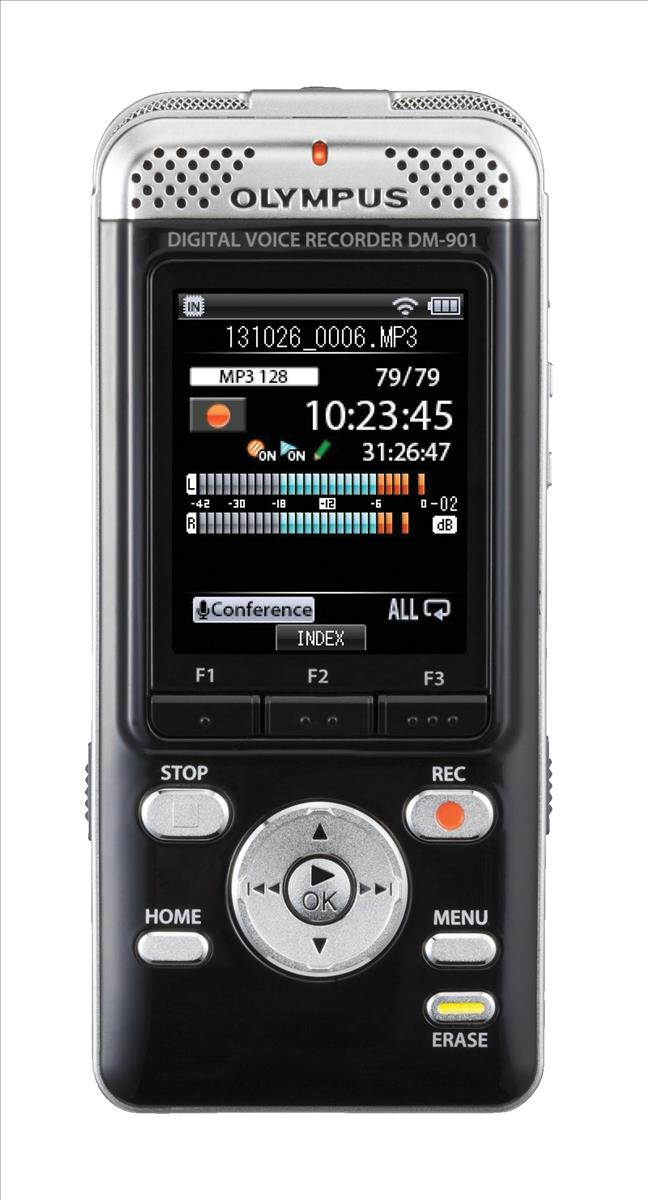 Image for Olympus DM-901 Voice Recorder Stereo Wi-Fi MP3 WMA 4GB Code V407141BE000