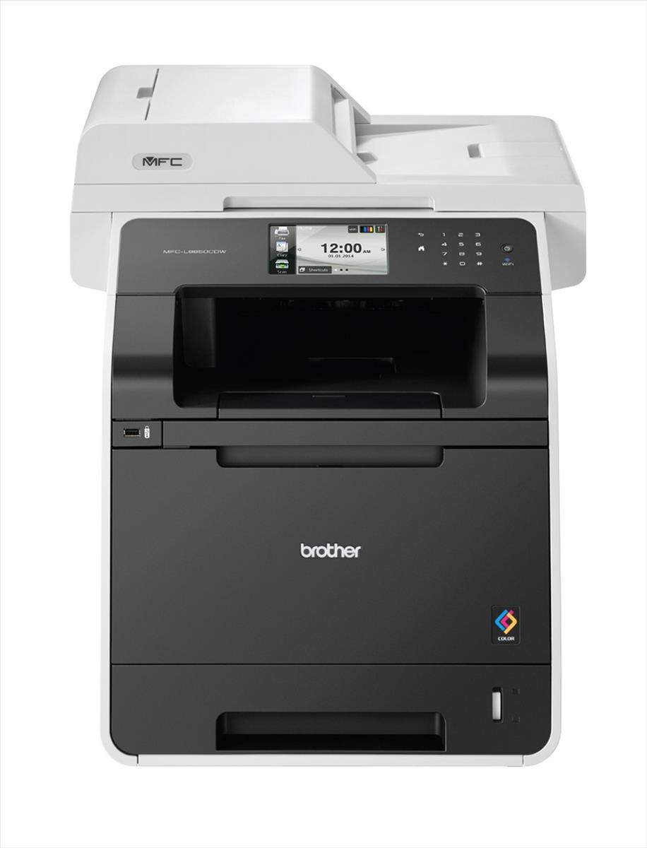 Brother MFC-L8850CDW Colour Laser All-in-One Printer with Fax Duplex Wireless Black (Pack of 1) MFCL8850CDWZU1