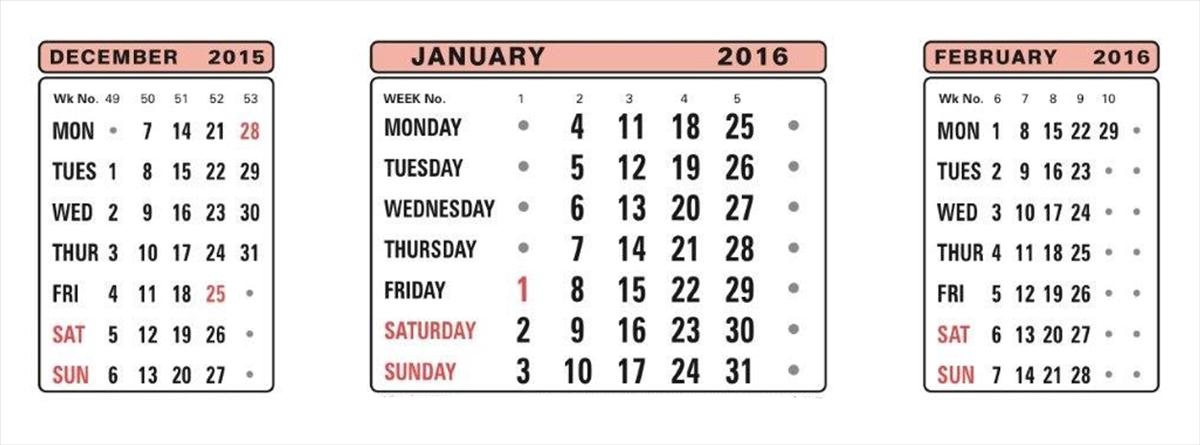 At-a-Glance 3 Month To View Refill For 3S 2016 3SR (Pack of 1)