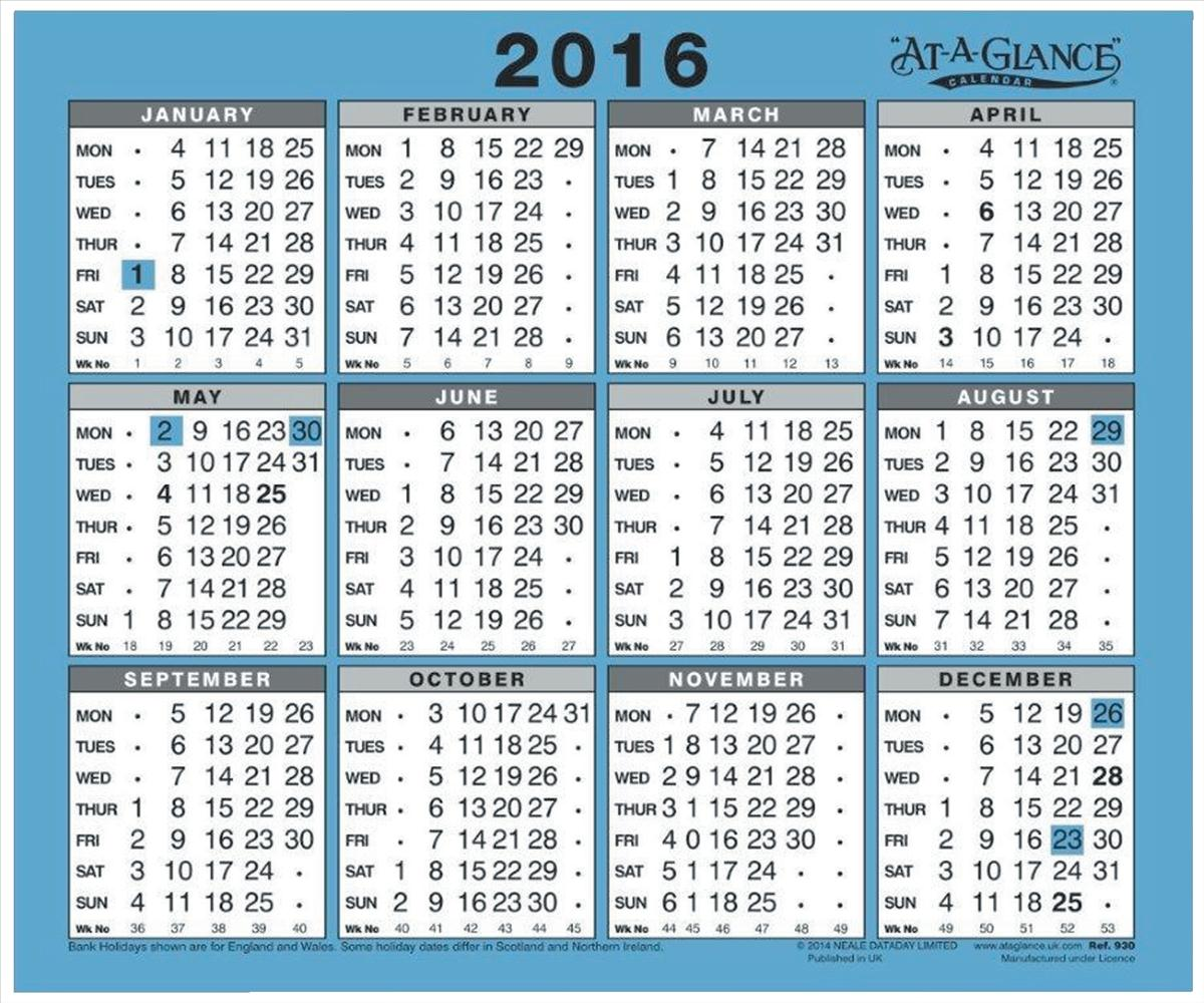 At A Glance 2016 Wall Calendar 930
