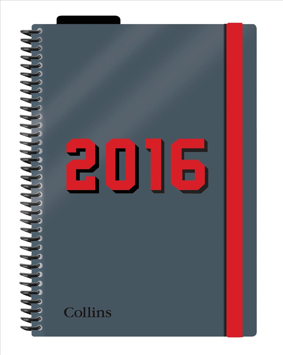 Collins 2016 Delta A5 DTP Diary Red