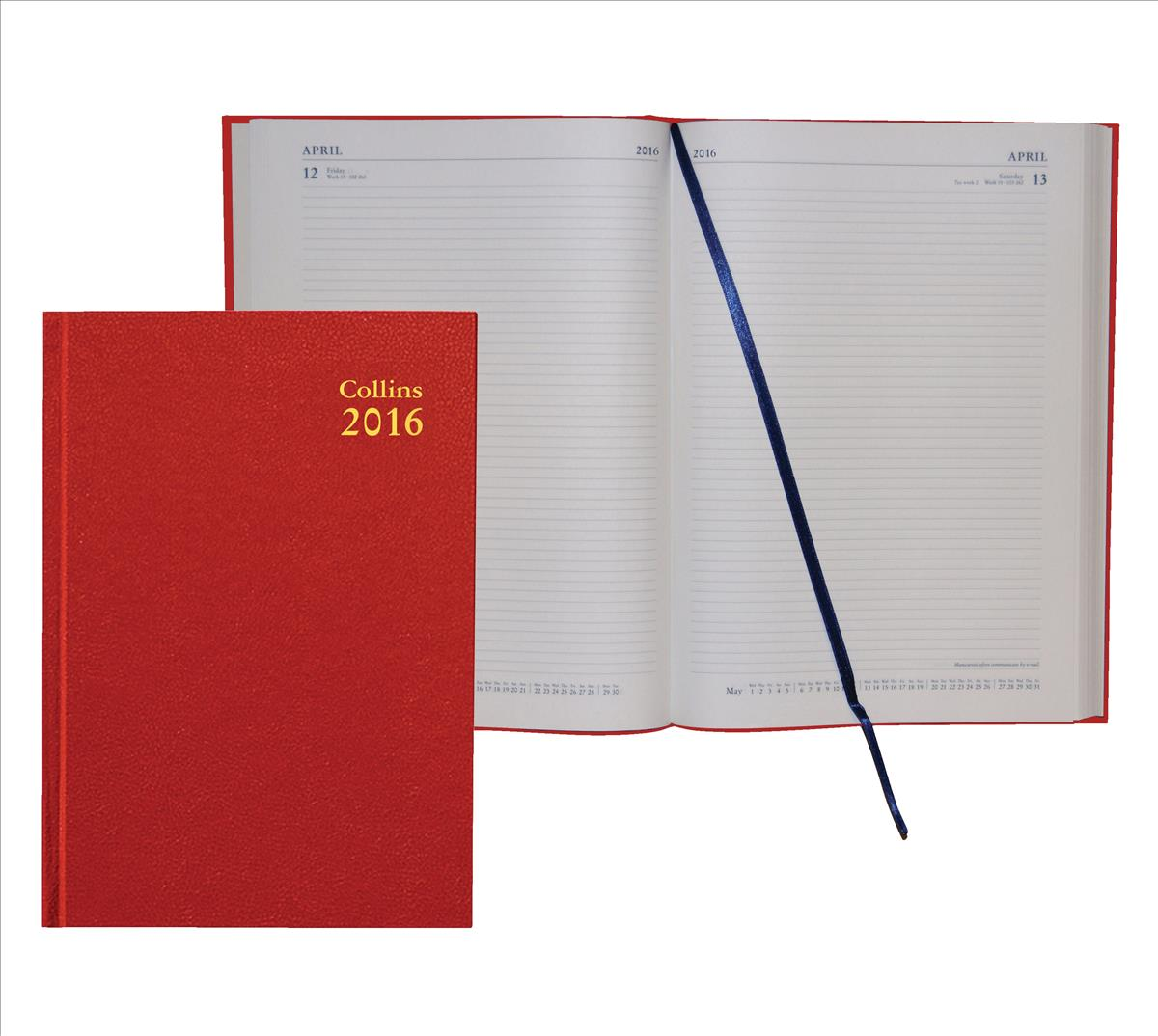 Collins 2016 Dy/Page A4 Diary 44 Red
