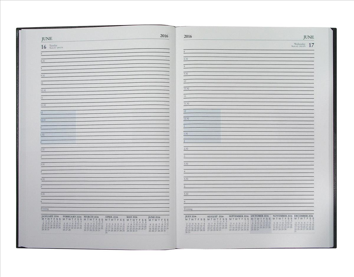 Collins 2016 Desk Diary A4 Day Per Page Appointments Assorted A44